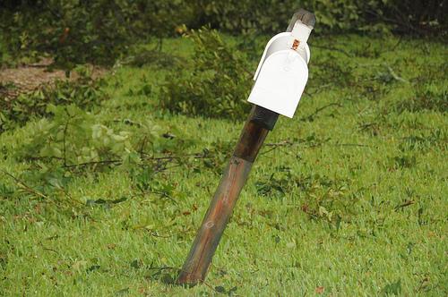 Needs mailbox repairs, broken mailbox