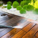handyman power washing deck