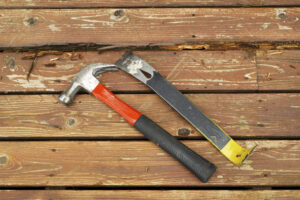 Deck repairs, rotted wood, deck repair tools