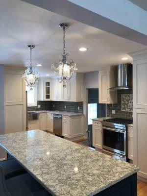 A photo of an elegant kitchen remodeling project in Morris Plains, NJ