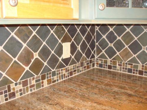 Tile backsplash Rockaway